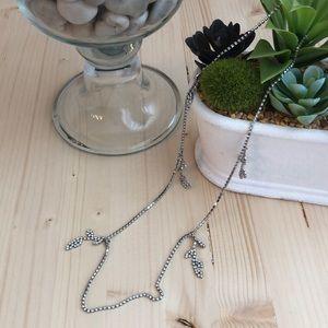 "BR rhinestone necklace 17.5"""